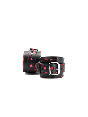 ARGUS FETISH HEARTS WRIST CUFFS