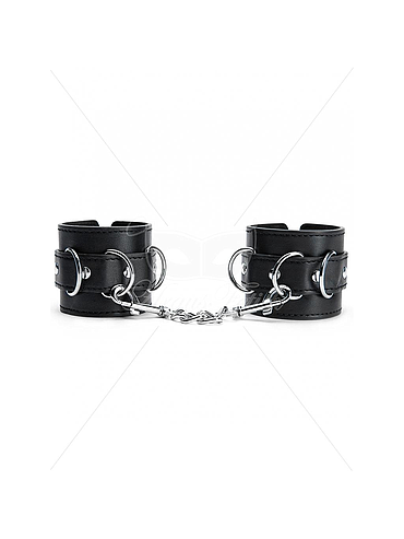 ARGUS FETISH BLACK WRIST CUFFS